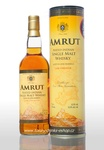 Amrut cask strength Indian peated single malt whisky + GB,  62,8% Vol.,  0,7 l